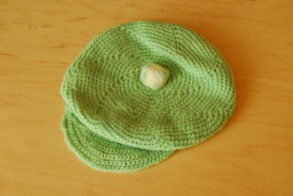 Vintage Green Baby or Doll Hat/Cap