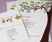Paper Lantern Tree Wedding Invitation (Sample)