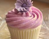 AJs Cupcake Factory Soap - Lavender Blooms Vegan Novelty Cupcake Soap