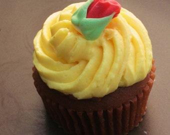 Cupcake Soap -Rosebuds in Bloom Cupcake Soap -Fake Food - Food Prop - Bakery - Dessert - Novelty Soap - Cupcake - Party Favor - Gift for Her