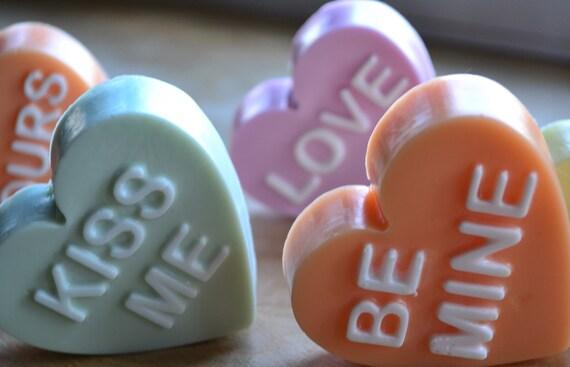 Valentine Soap - Conversation Hearts Vegan Soap Gift Set