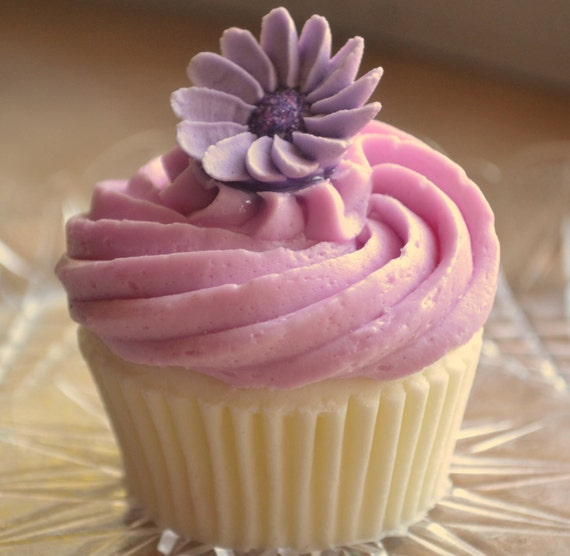 Lavender Blooms Vegan Novelty Cupcake Soap - Cupcake Soap - Dessert - Fake Food - Realistic - Food Soap - Party Favor - Mom - Mothers Day
