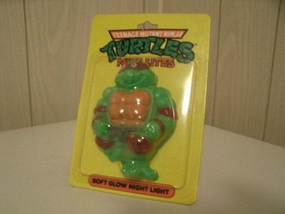 Vintage Teenage Mutant Ninja Turtle NightLight 1980s