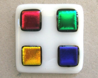 Multi Colored Glass Cabinet Knob Hardware Jewel Tones