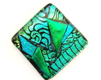 Green Mosaic Glass Backsplash Tile or Accent Floor Tile