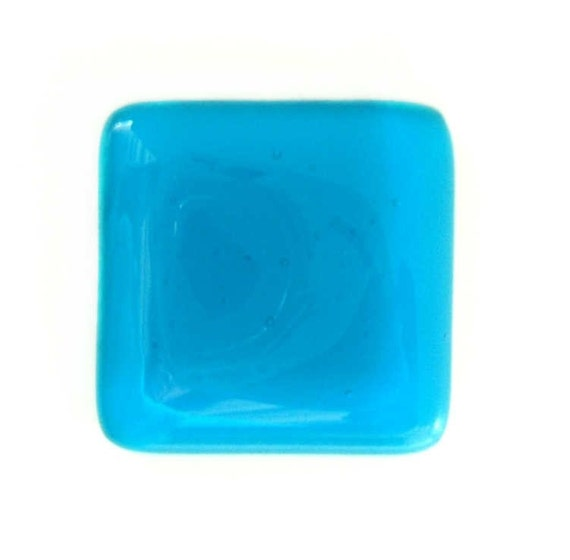 Glass Knob Cabinet Hardware in Deep Turquoise -Custom Sizes