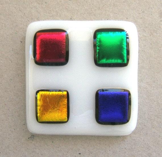 Multi Colored Glass Cabinet Knob Hardware Jewel Tones