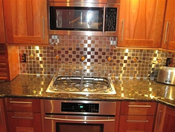Red Kitchen Backsplash Accent Tile In By Uneekglassfusions On Etsy