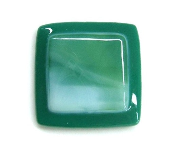 Jade Green Knob Hardware in Fused Art Glass