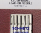 Schmetz Leather sewing machine needles, combination 5 pack