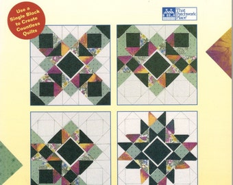 Quilt block book, Surprising Designs from Traditional Quilt Blocks, That Patchwork Place, 110 variations