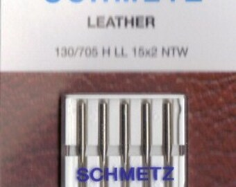 Machine needles for sewing Leather, Schmetz, size 100,16, 5 needles