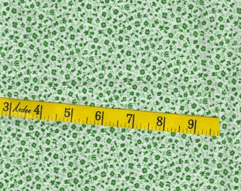 One quarter yard, cotton fabric, perfect for your quilt,  vintage, green, tiny flowers
