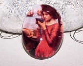 30x40 Destiny Waterhouse Cameo,  40x30 Handmade Glass Cabochon - John Waterhouse Art