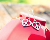 Peace and Love, silver earrings