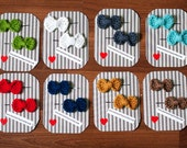 Crocheted Bow Hair Pins. Sweet and Simple Bows.