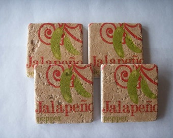 Stone Coasters Peppers