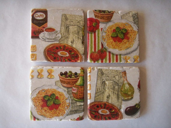 Custom Order for Sandra Italian Coasters