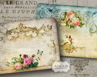 Printable Download ANTIQUE STYLE VIGNETTES No.1 Digital Collage Sheet Vintage ephemera antique shabby decoupage paper ArtCult goods