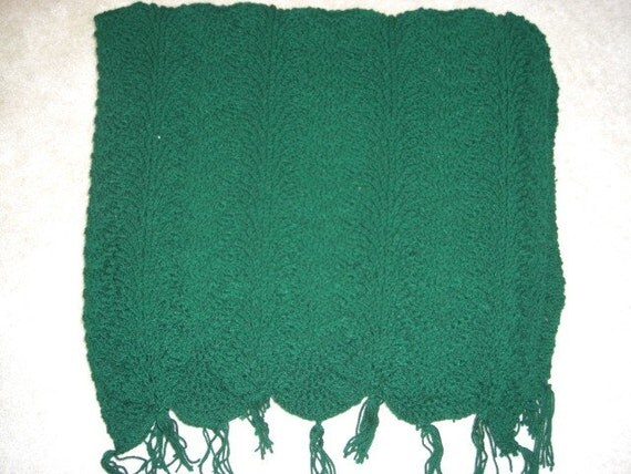 Handmade Knit Large Afghan Appr. 45x88