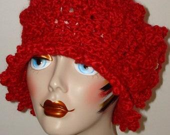 Hand Crochet Soft Elegant Homespun Edwardian Bobble Style Cloche Flapper Hats/Vintage hats/Women's Accessories/Fall/Winter/Spring Cloche Hat