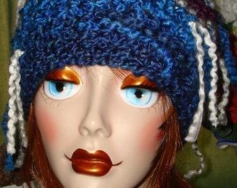 OOAK Hand Crochet Colorful Raggamuffin Slouchy Beanie Ski Hat B2/Women's Accessories/Winter Fashion/Fall Fashion/Clearance/Free US shipping