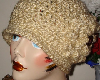 "Hand Crochet 1920s ""Millie"" Style Cloche Flapper Hat/Cloche Hat/Vintage style/Women's Accessories/Winter Accessories/Fall Fashion/Women's"
