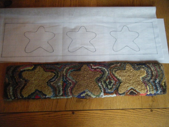Primitive rugs with stars