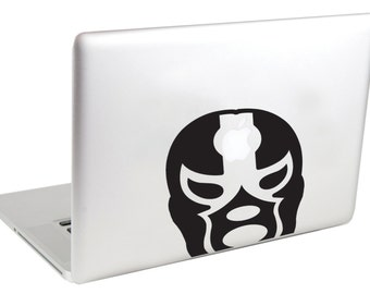 Laptop Sticker (( Mexican Wrestler )) Laptop Decal by Suzie Automatic