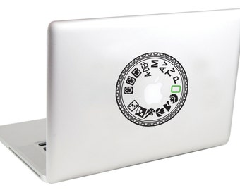 Canon EOS 40D Camera Mode Dial MacBook Decal by Suzie Automatic