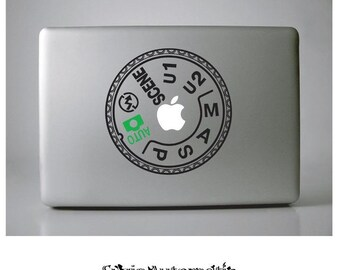 Nikon D7000 Mode Dial Macbook Vinyl Decal