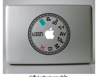 Pentax K10/20 D Mode Dial Vinyl Decal