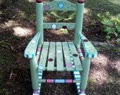 Hand Painted Princess Rocking Chair