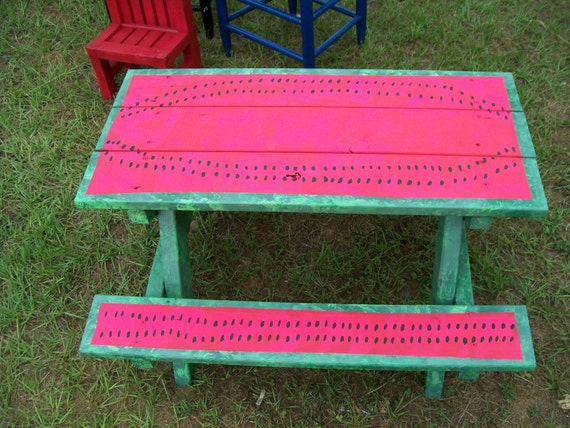Items Similar To Hand Painted Childrens Picnic Table