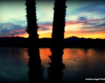 Dusk on the River 6. Matted fine art photograph.