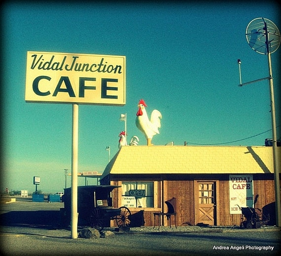 Vidal Junction Cafe. Fine art photo.