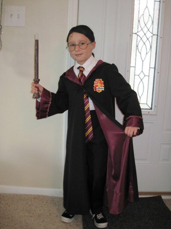 Harry Potter inspired Gryfinndor Robe for Halloween or Dress Up, Size 10/12