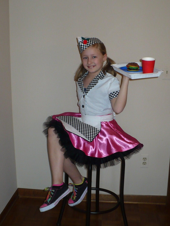 Diner Uniform Costume Hop/diner Waitress Costume