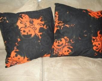 Batik Pumpkin 16 x 16 Pillow Covers - Set of Two