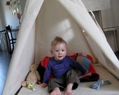 Reg Teepee play tent NO POLES - Plain fabric tent parts only