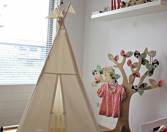 Tipi play tent NO POLES - Plain fabric tent parts only