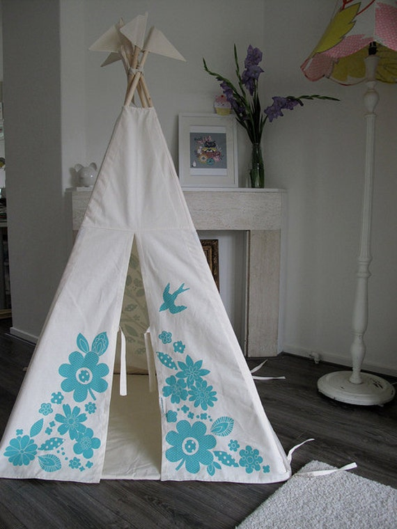 Teepee tent Indoor play teepee - blue - LAST TWO