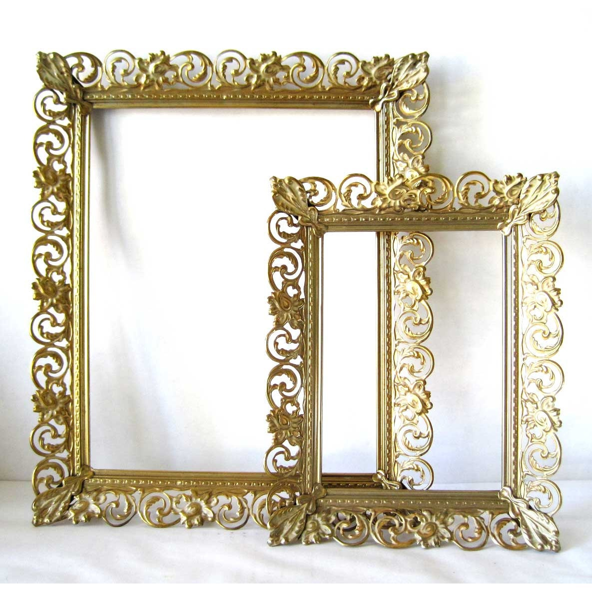 I Designed A Vintage Looking Border Art For You To Use In: Vintage Filigree Frame Victorian Wall Decor Golden Ornate