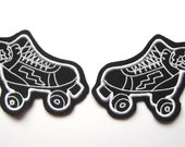 Roller Derby patch Pair of white skates (more and custom colors available)