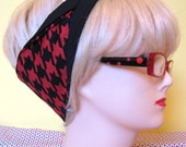 Mod style Houndstooth check Fabric Hair Tie by Dolly Cool