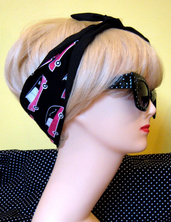 Cadillac Hair Tie Pink Hearse Monster Horror Psychobilly by Dolly Cool 50s