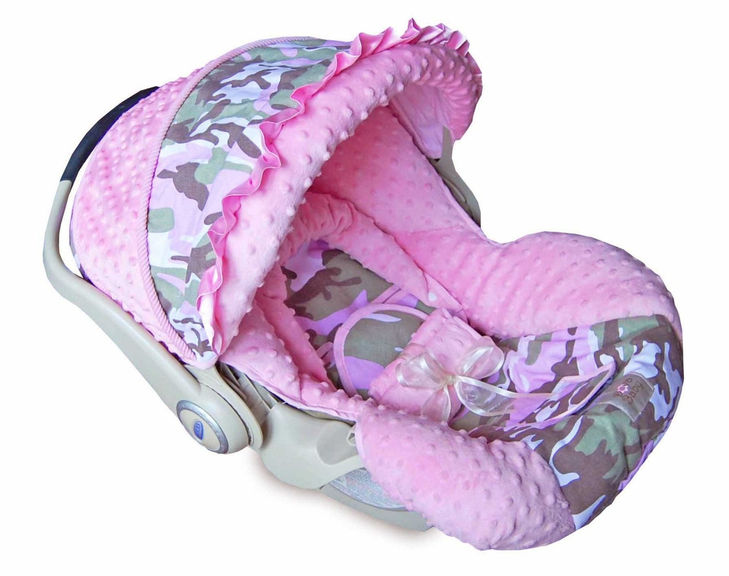 Boutique Graco Snugride Infant Baby Car Seat Cover Camo Pink