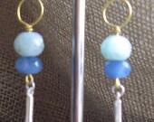 Blue Moon Rising  Swarovski Crystal Earrings