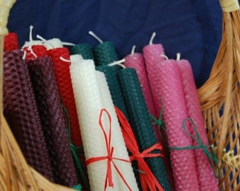 Rolled Beeswax Candles NEW COLORS!