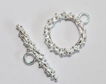 1 x 925 sterling silver toggle clasp14.5mmx22.5mm (12141clsp)